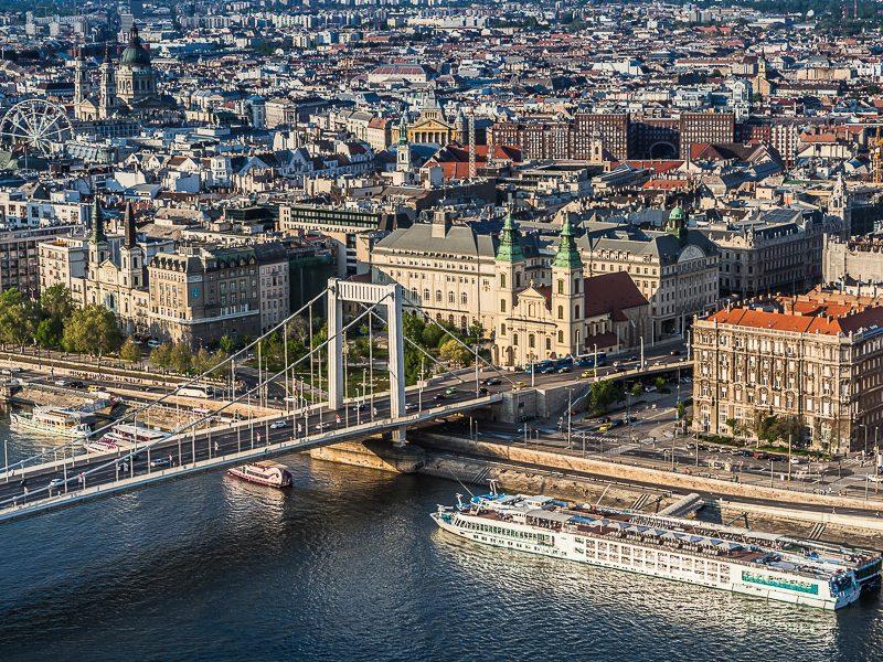 Будапешт вид сверху