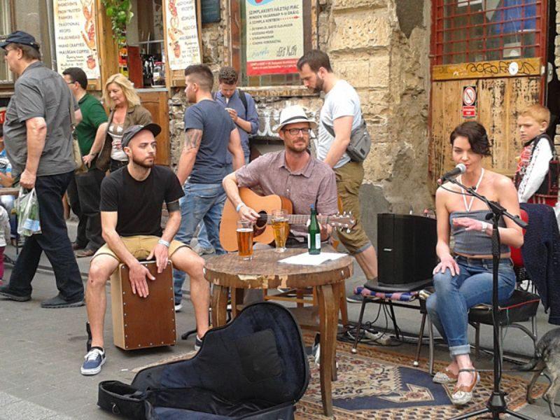Будапешт уличные музыканты
