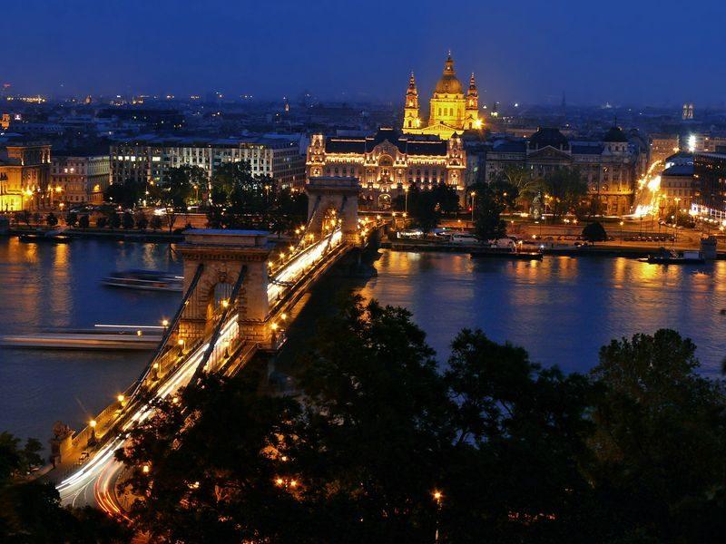 Будапешт мост ночь